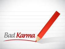 Bad karma message illustration design. Over a white background Royalty Free Stock Images