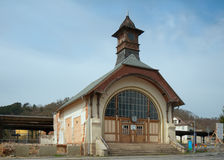Bad Koesen railway station, Germany Royalty Free Stock Images