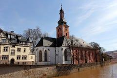Bad Kreuznach ed il fiume di Nahe Fotografia Stock Libera da Diritti
