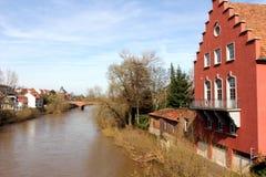 Bad Kreuznach ed il fiume di Nahe Fotografia Stock