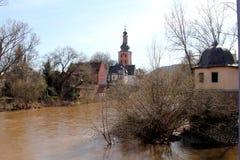 Bad Kreuznach ed il fiume di Nahe Immagine Stock Libera da Diritti