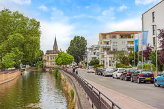 Bad Kreuznach, Germany. Inner city of Bad Kreuznach, river Nahe in front Stock Photography