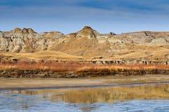 Bad-lands d'Alberta Photo stock