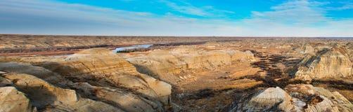 Bad-lands d'Alberta photos stock