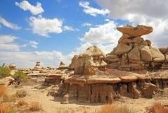 Bad-lands de Bisti Photo libre de droits
