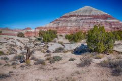 Bad-lands de Caineville, Utah photographie stock