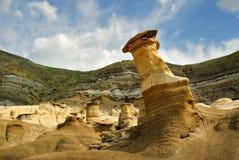 Bad-lands de Drumheller Alberta de Hoodoos Images libres de droits