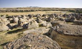 Bad-lands de Milk River Alberta images libres de droits