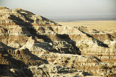 Bad-lands le Dakota du Sud Photo libre de droits