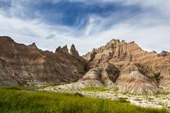 Bad-lands, le Dakota du Sud Photos libres de droits