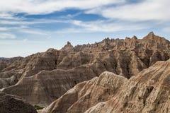 Bad-lands, le Dakota du Sud Photo stock