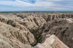 Bad-lands, le Dakota du Sud Images libres de droits