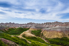 Bad-lands, le Dakota du Sud Photographie stock