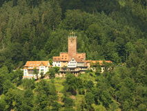 Bad Liebenzell castle. In Black forest region. Famoust spa town Royalty Free Stock Photo
