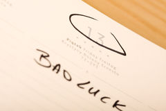 Bad luck... Marked and written bad day in a calendar Stock Photography