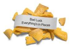 Bad Luck Fortune Cookie Stock Photo