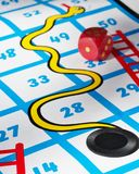 Bad Luck, Snakes and Ladders. Royalty Free Stock Photography