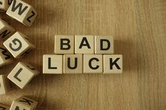 Free Bad Luck Text From Wooden Blocks Stock Photo - 148248270