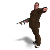 Bad mafia gun man Royalty Free Stock Image