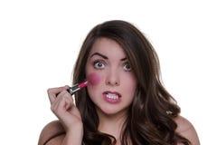 Bad make up day Royalty Free Stock Photo