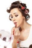 Bad makeup Stock Image