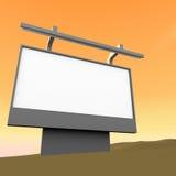 Bad marketing 3d render billboard Royalty Free Stock Images