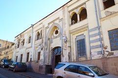 Bad medische korpsen Abanotubani - het Hete district van Zwavelbaden in oud Tbilisi Stock Fotografie