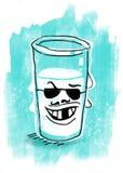 Bad mjölkar illustrationen Royaltyfri Fotografi