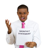 Bad monthly statement Stock Photo