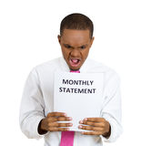 Bad monthly statement Stock Photography