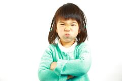 Bad mood Japanese little girl Stock Images