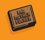 Bad Mother Fucker Wallet Vector Illustration Royalty Free Stock Photo