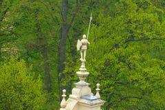 Bad Muskau Muzakow statue of knight Royalty Free Stock Image