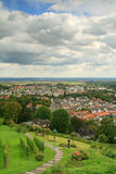 Bad Nauheim. Small city in west Germany. The vineyard on the hill.2011 Royalty Free Stock Image