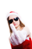 Bad new year girl Royalty Free Stock Photography