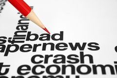 Bad news Stock Photo
