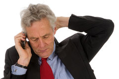 Bad news. By the telephone Royalty Free Stock Image