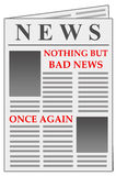 Bad news again Royalty Free Stock Image