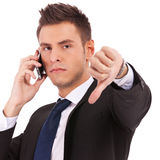 Bad news on  cell phone Royalty Free Stock Image