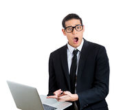 Bad news on computer Royalty Free Stock Image