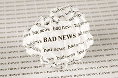 Without Bad news Royalty Free Stock Photo