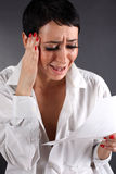 Bad news - depression woman with tears Royalty Free Stock Image