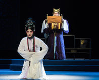 "The bad news- imperial harem or seraglio-Jiangxi opera ""Red pearl"" Royalty Free Stock Photo"