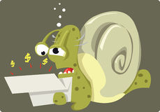 Bad news for Mr Snail Stock Photography