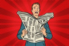 Bad news in the newspaper vector illustration