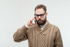 Bad news over a phone Royalty Free Stock Image