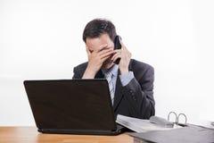 Bad news at phone Royalty Free Stock Images