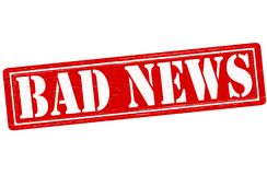 Bad news. Stamp with text bad news inside, illustration Royalty Free Stock Photo