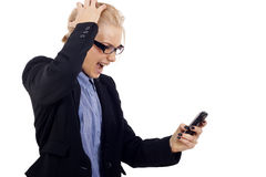 Bad news text message Stock Photography
