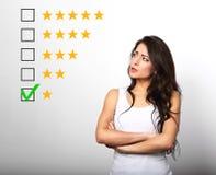 Bad, niepowodzenie zła ocena, cenienie, online przegląd Jeden st zdjęcie royalty free